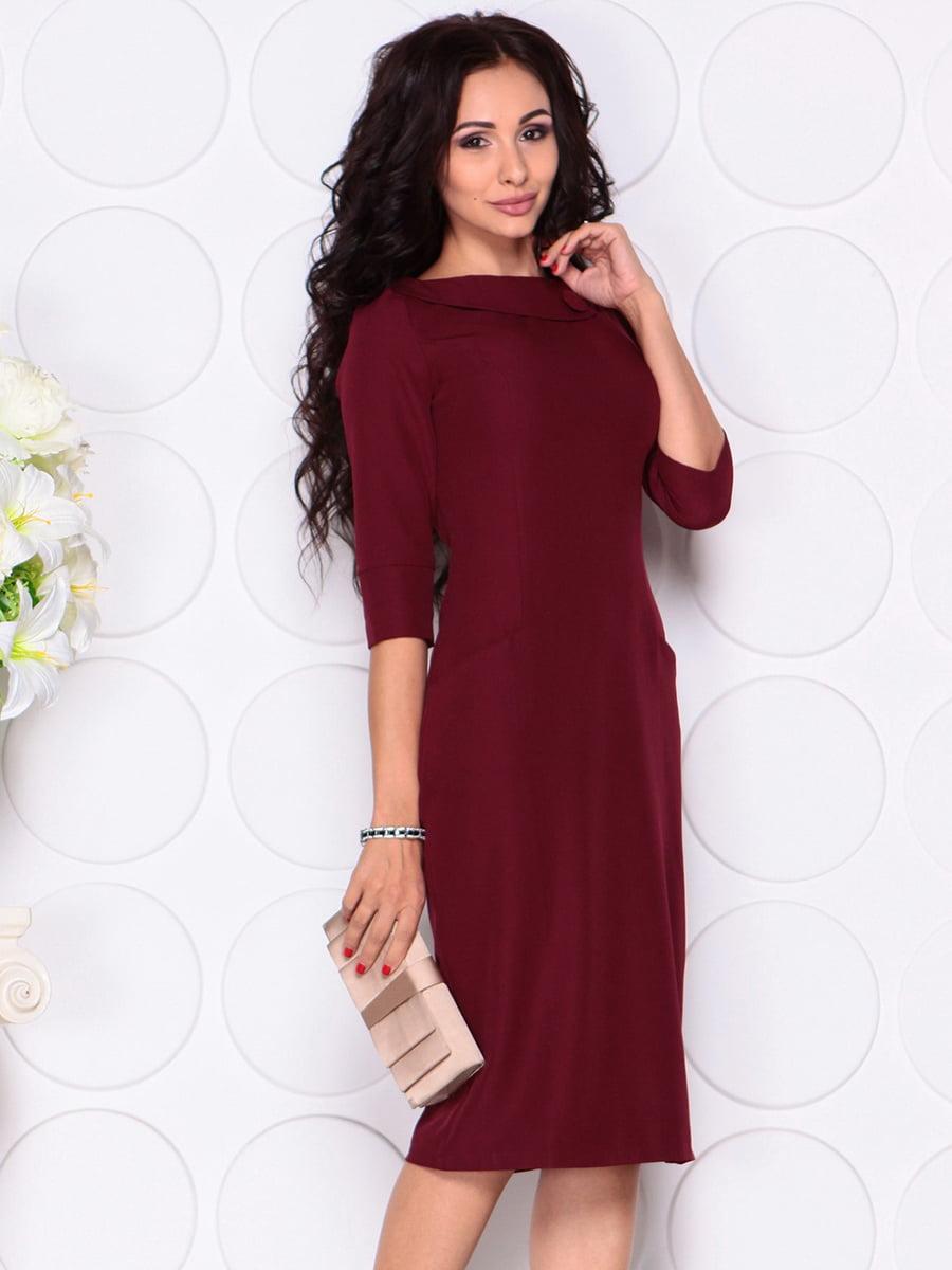 Платье сливового цвета | 4389190