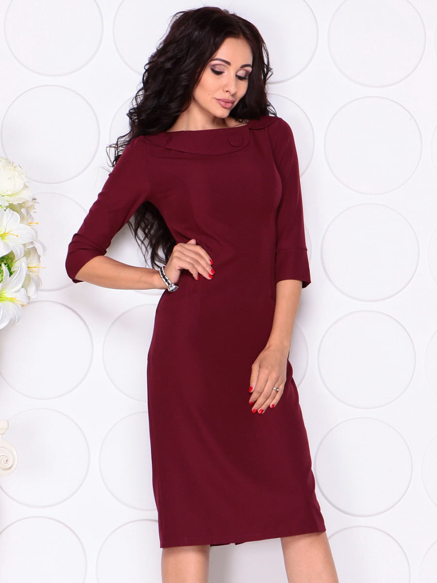 Платье сливового цвета | 4389190 | фото 5