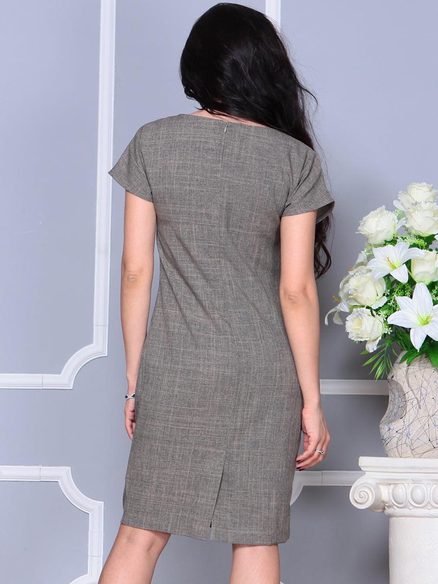 Платье цвета бежевый хаки | 4395539 | фото 2