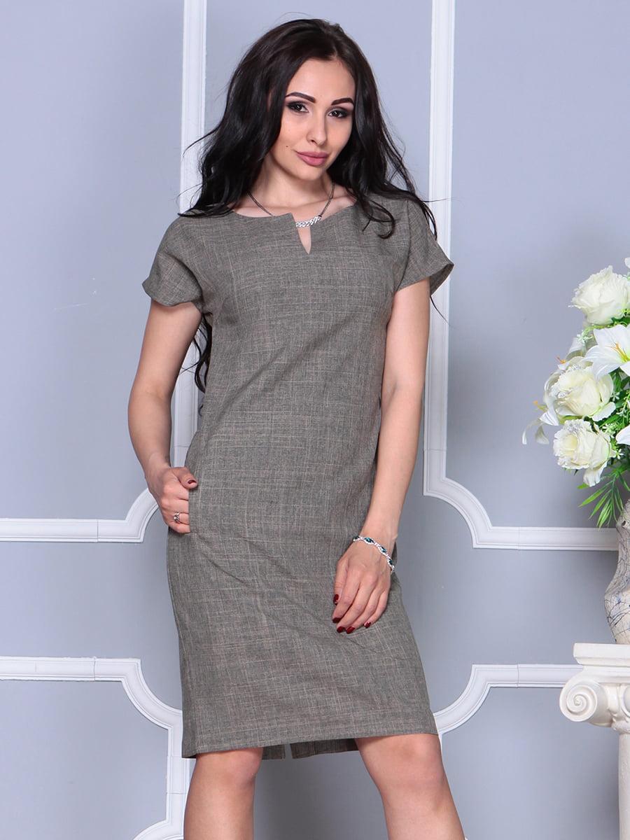 Платье цвета бежевый хаки | 4395539 | фото 3