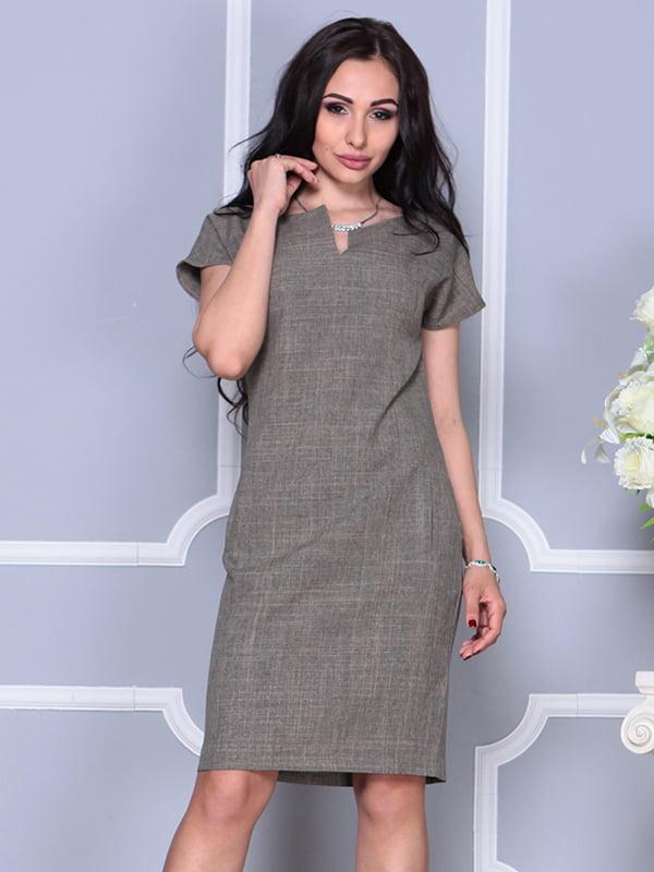 Платье цвета бежевый хаки | 4395539 | фото 4