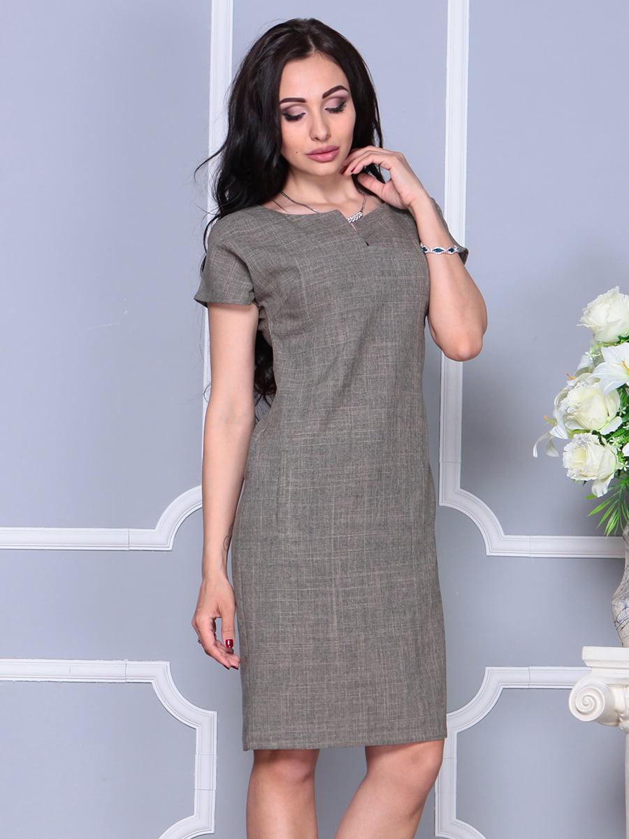 Платье цвета бежевый хаки | 4395539 | фото 5