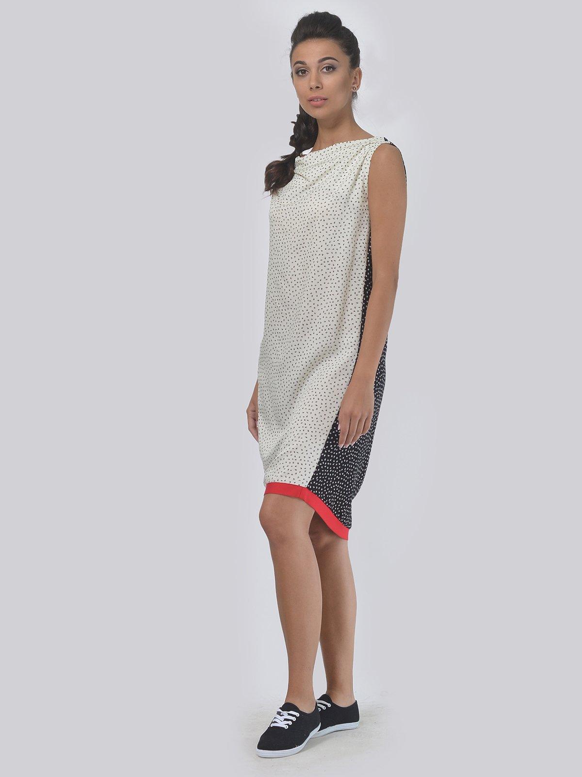 Платье черно-молочное | 4397937 | фото 2