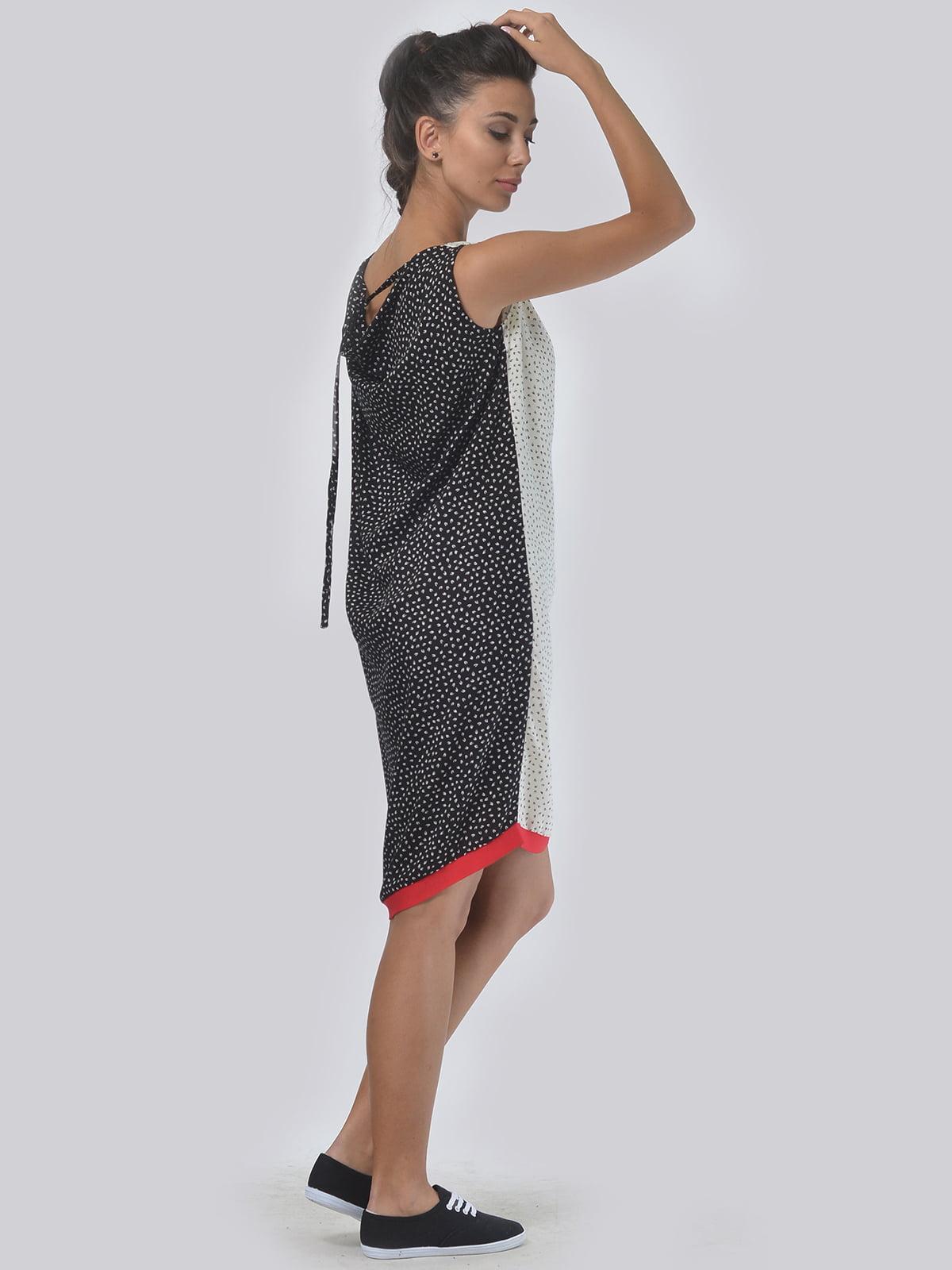 Платье черно-молочное | 4397937 | фото 3