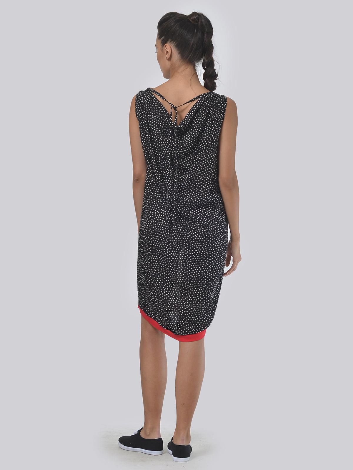 Платье черно-молочное | 4397937 | фото 4