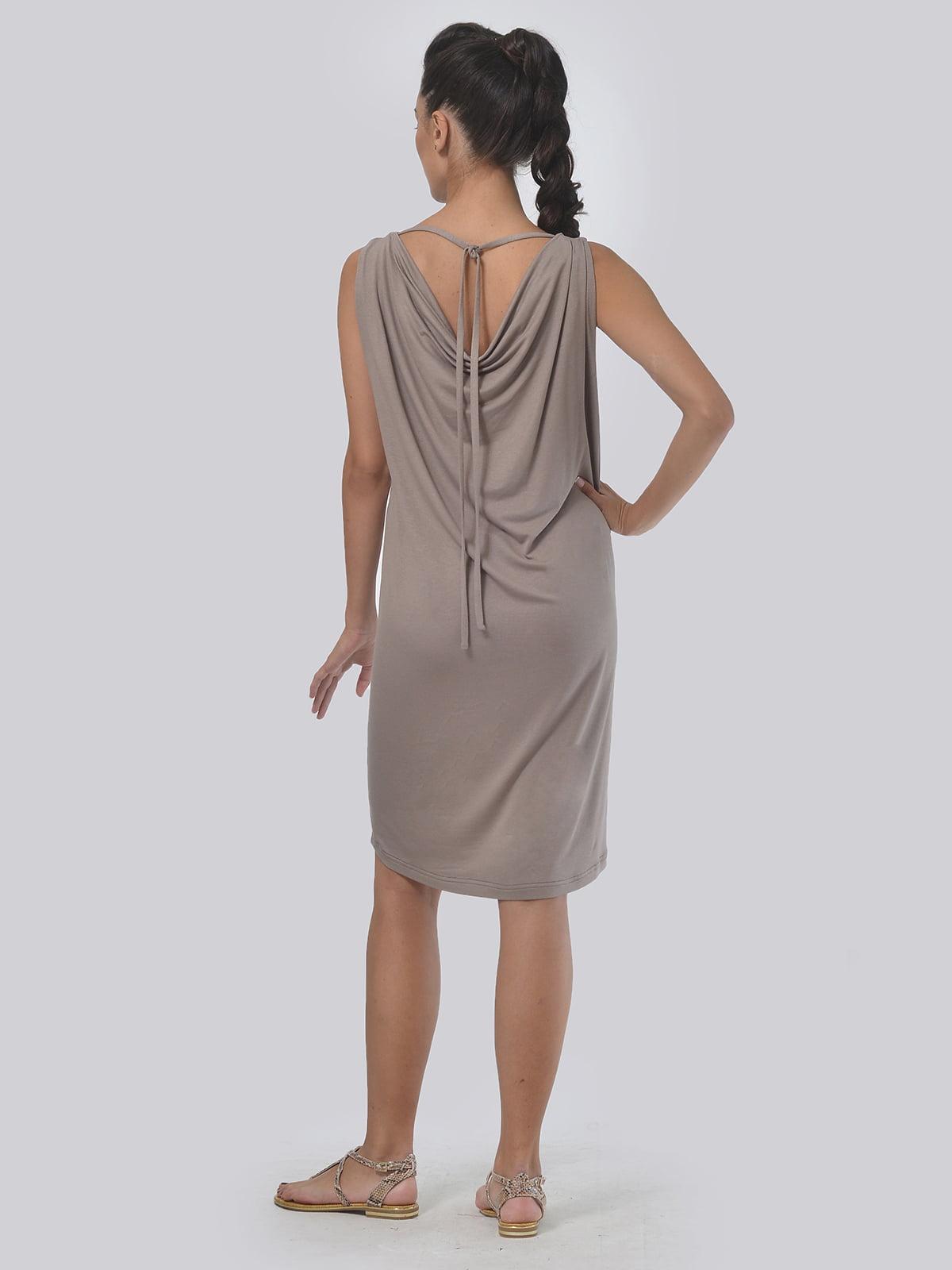 Платье кофейного цвета в полоску   4397938   фото 3