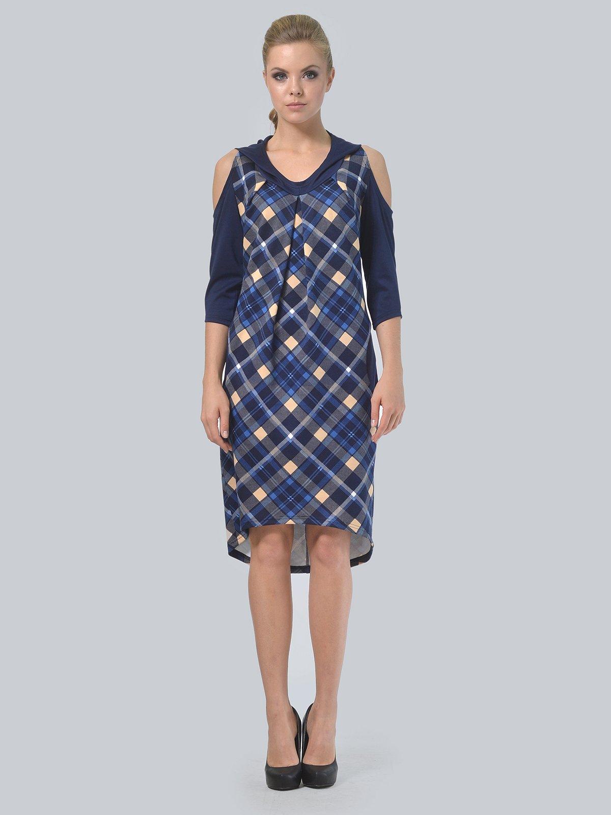 Платье цвета электрик в принт | 4397939 | фото 2