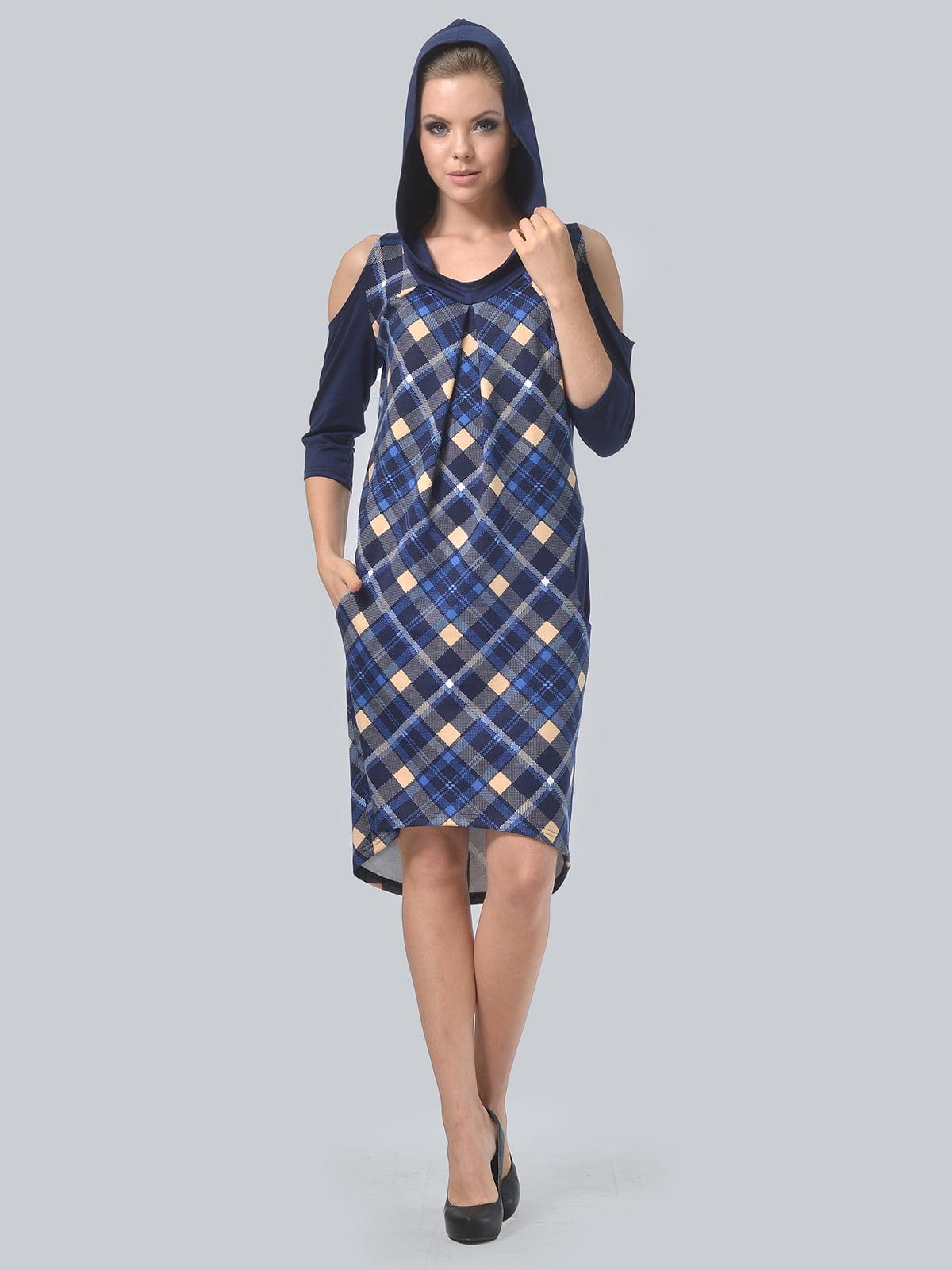 Платье цвета электрик в принт | 4397939 | фото 3
