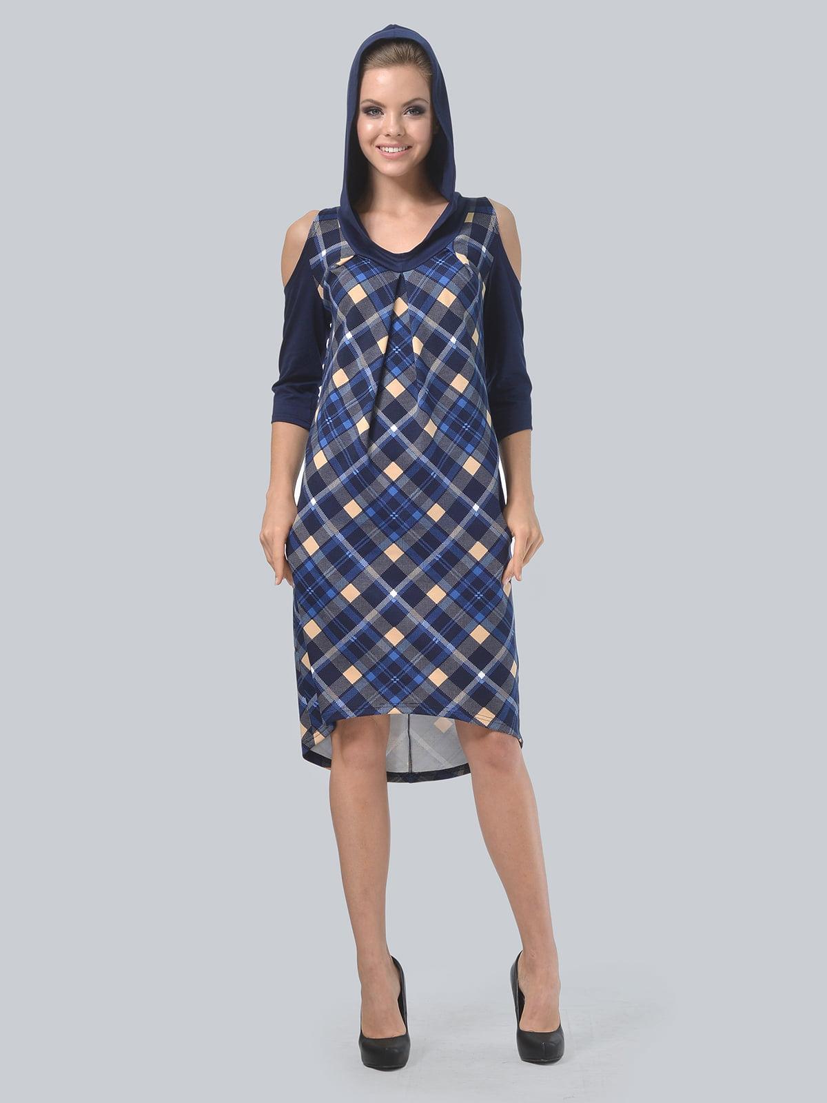 Платье цвета электрик в принт | 4397939 | фото 4