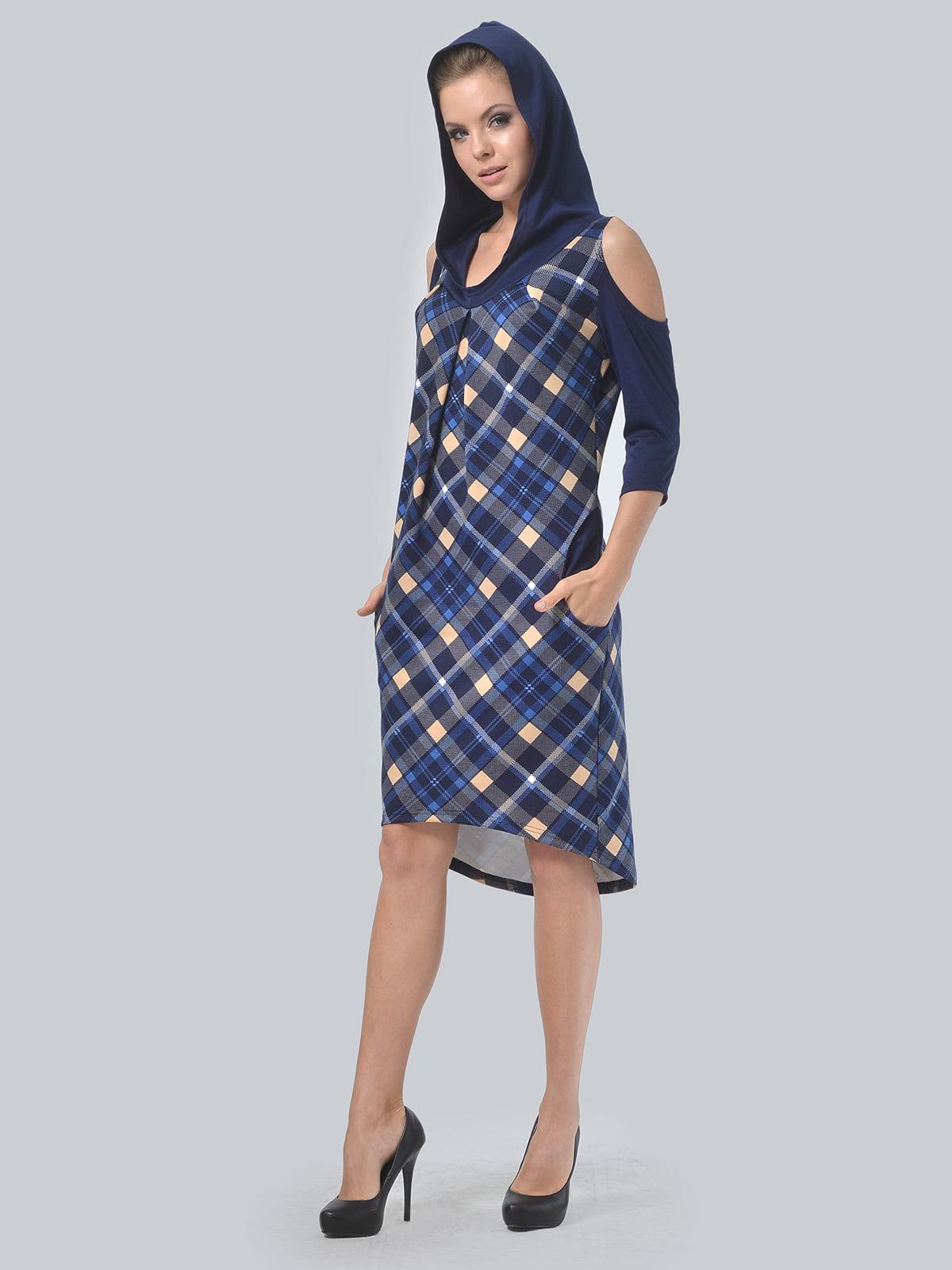 Платье цвета электрик в принт | 4397939 | фото 5