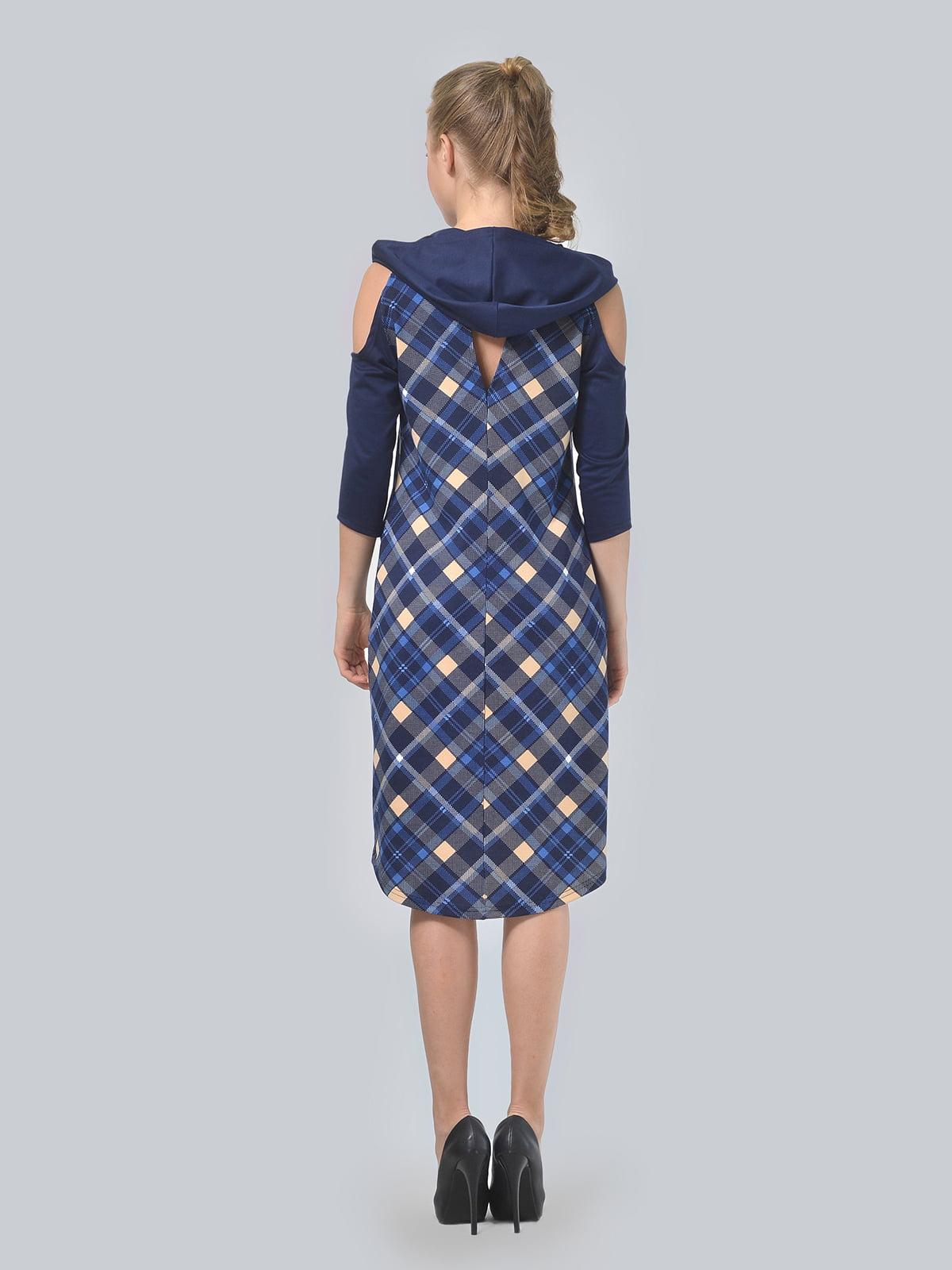 Платье цвета электрик в принт | 4397939 | фото 8