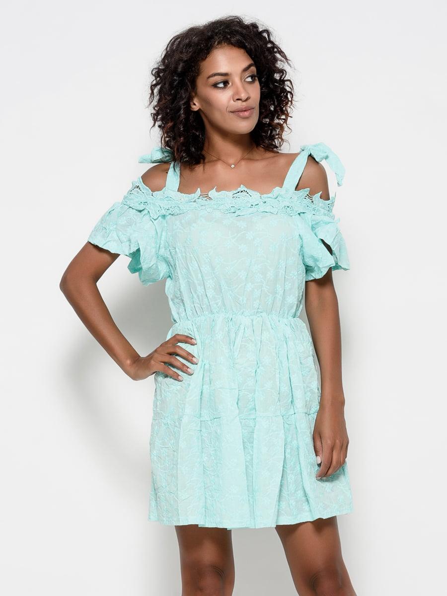 Платье мятного цвета | 4398903
