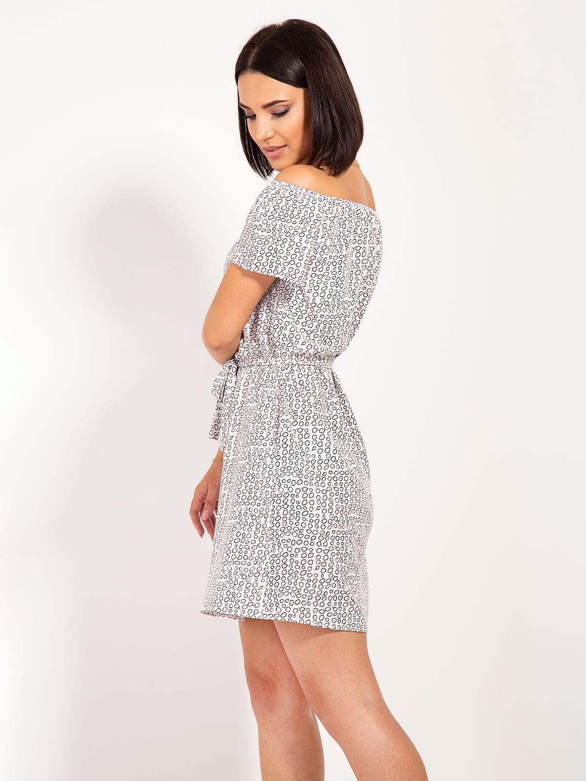 Платье серое в принт | 4400059 | фото 2