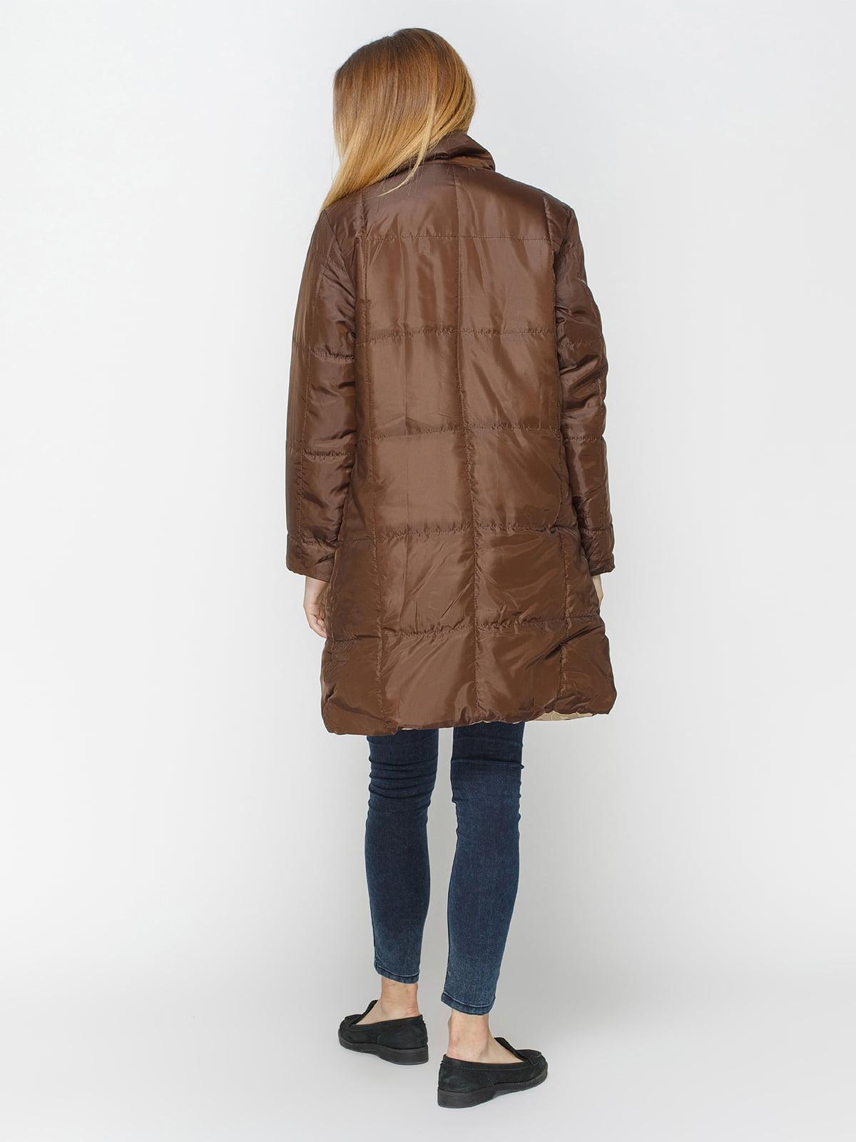 Куртка бежево-коричневая двусторонняя   4327088   фото 3