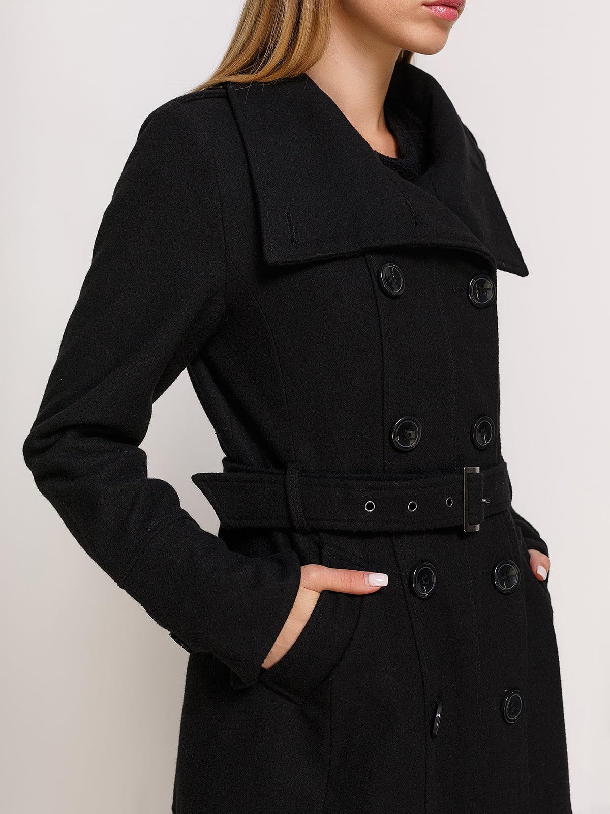 Пальто черное | 3167005 | фото 4