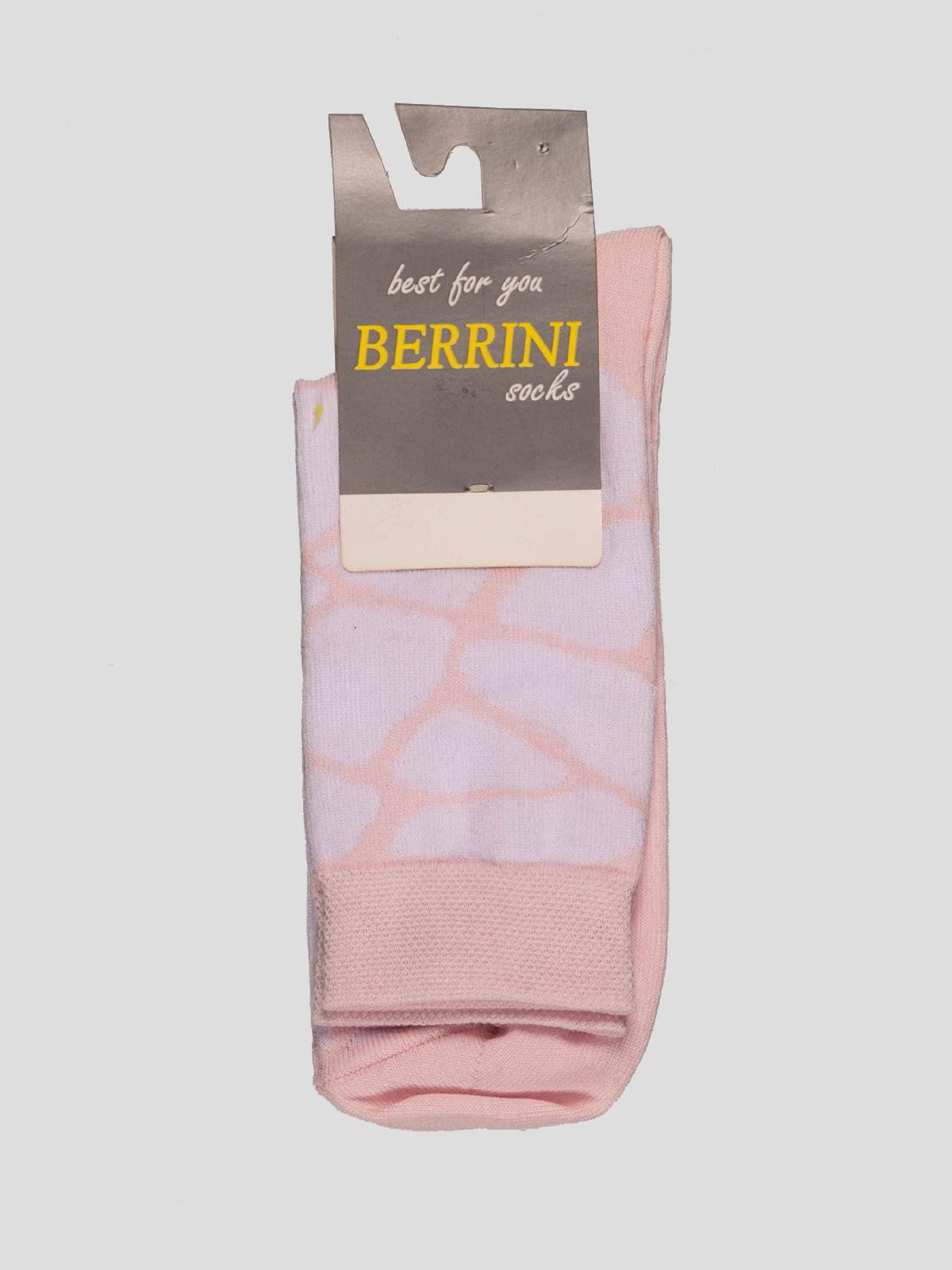 Носки двухцветные в рисунок | 4398772
