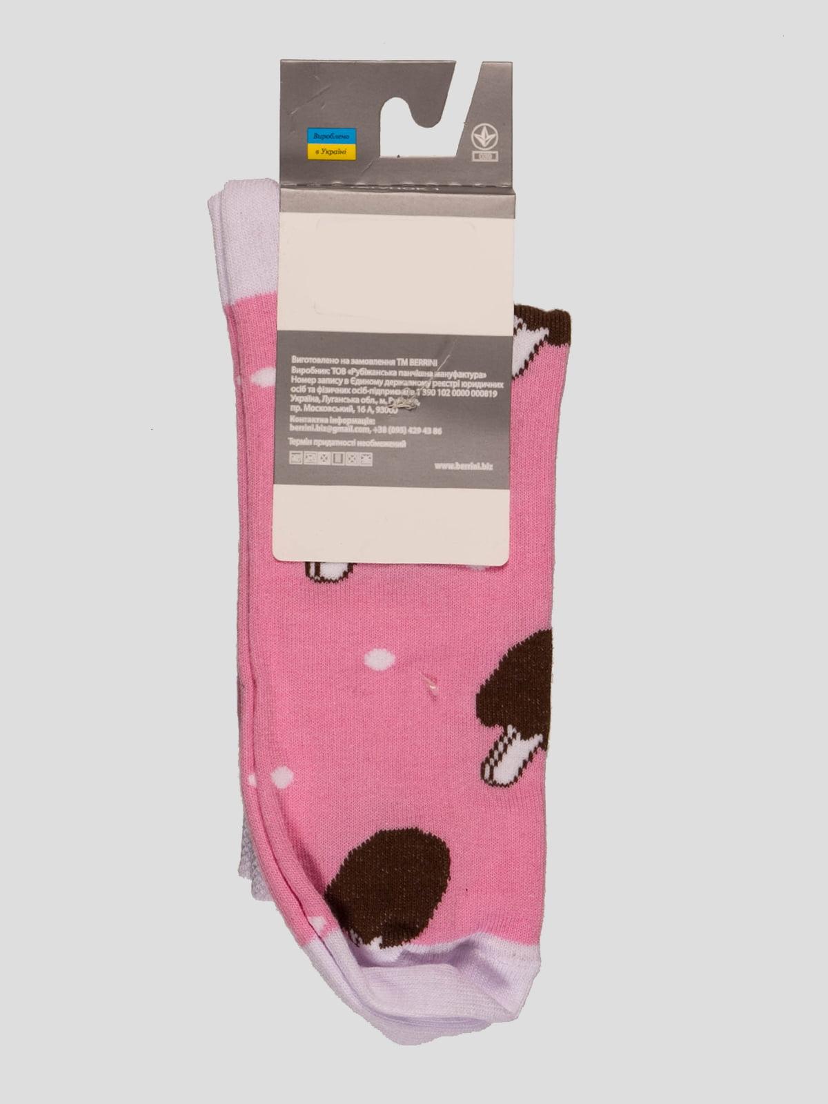 Носки розовые в рисунок | 4398750 | фото 2
