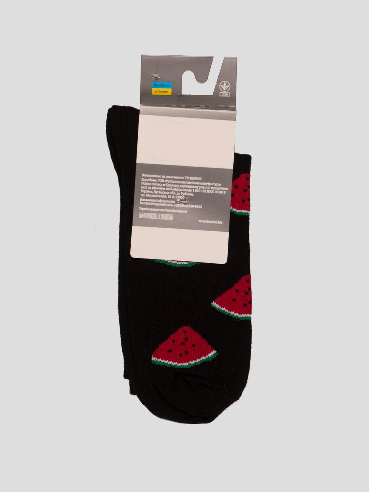 Носки черные в рисунок | 4398745 | фото 2