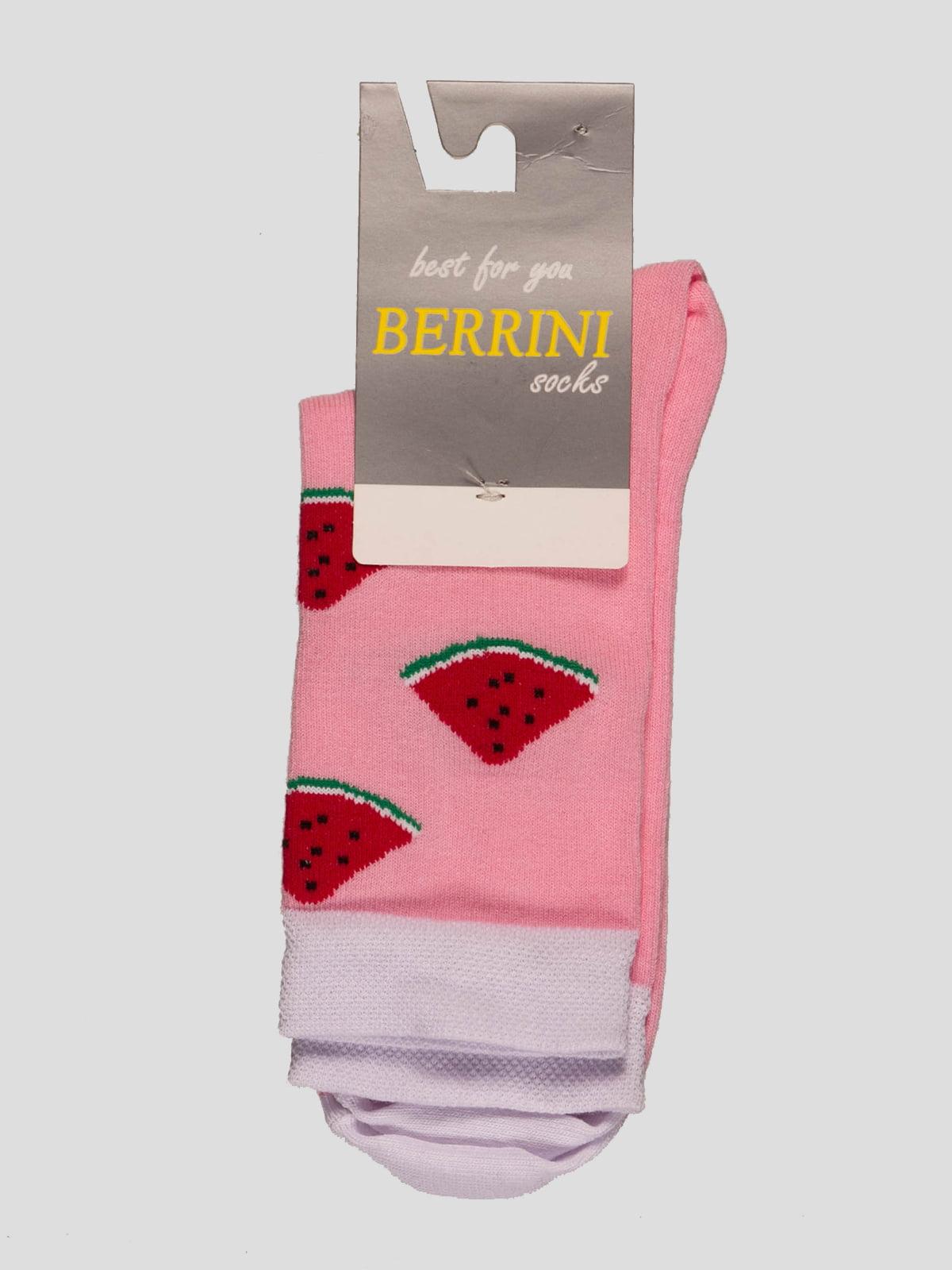 Носки розовые в рисунок | 4398746