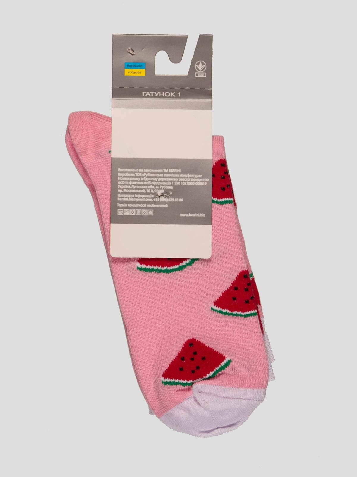 Носки розовые в рисунок | 4398746 | фото 2