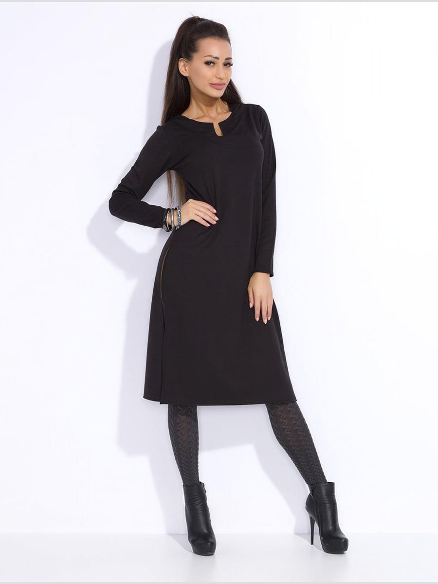 Сукня-туніка чорна | 3947800