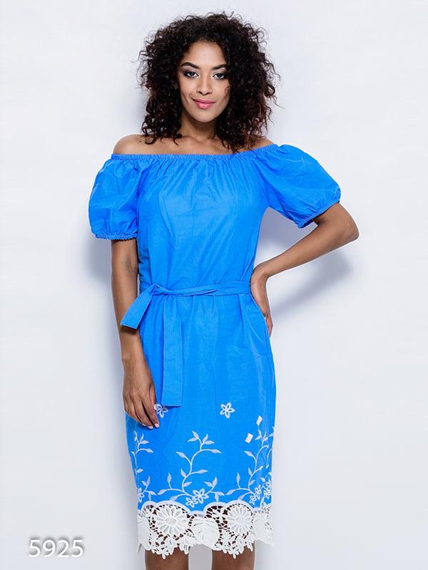Платье голубое | 4412349