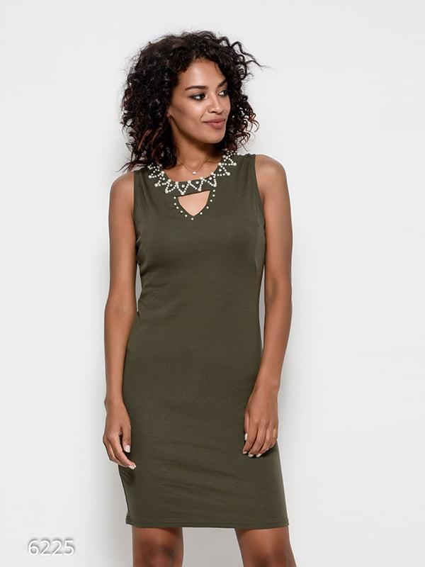 Платье цвета хаки   4412379