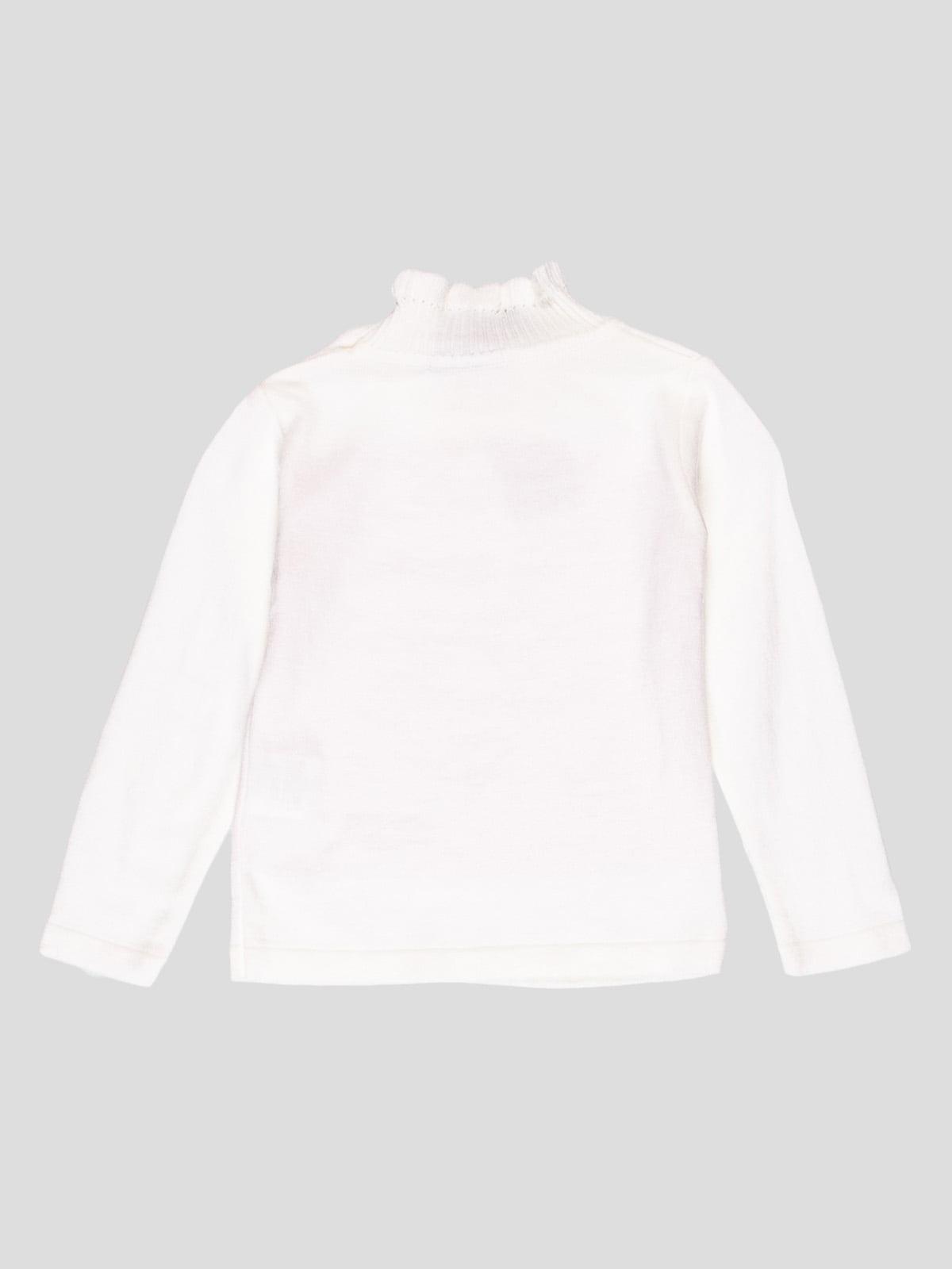Джемпер білий з декором | 4397756 | фото 2