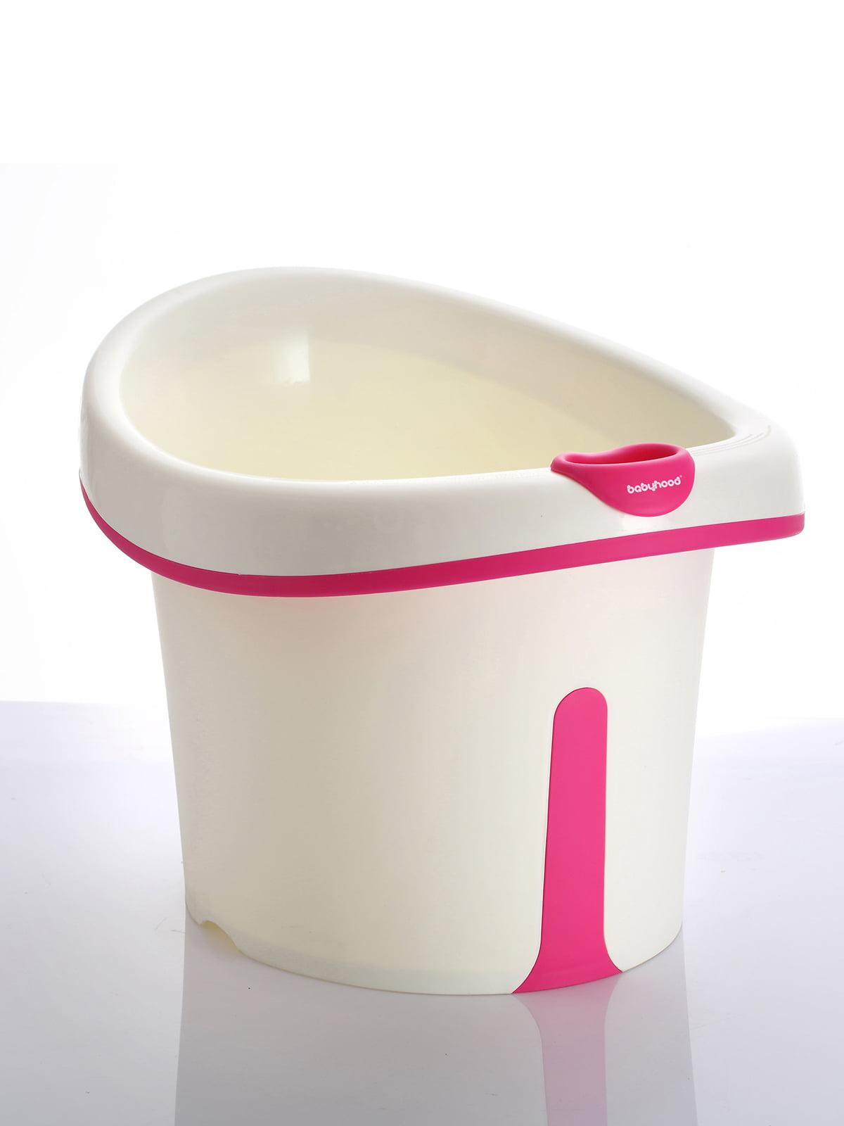 Ванночка для купания BH-304 бело-розовая | 4415581