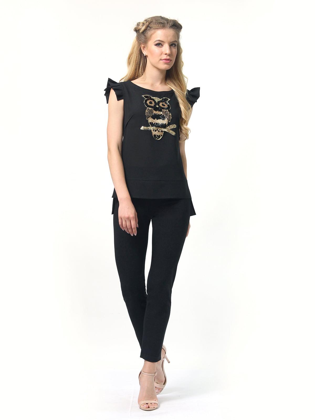 Блуза черная   4418810   фото 2
