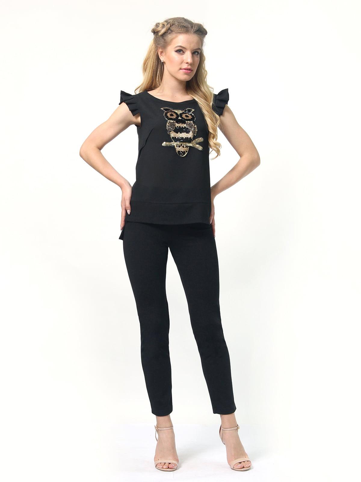 Блуза черная   4418810   фото 3