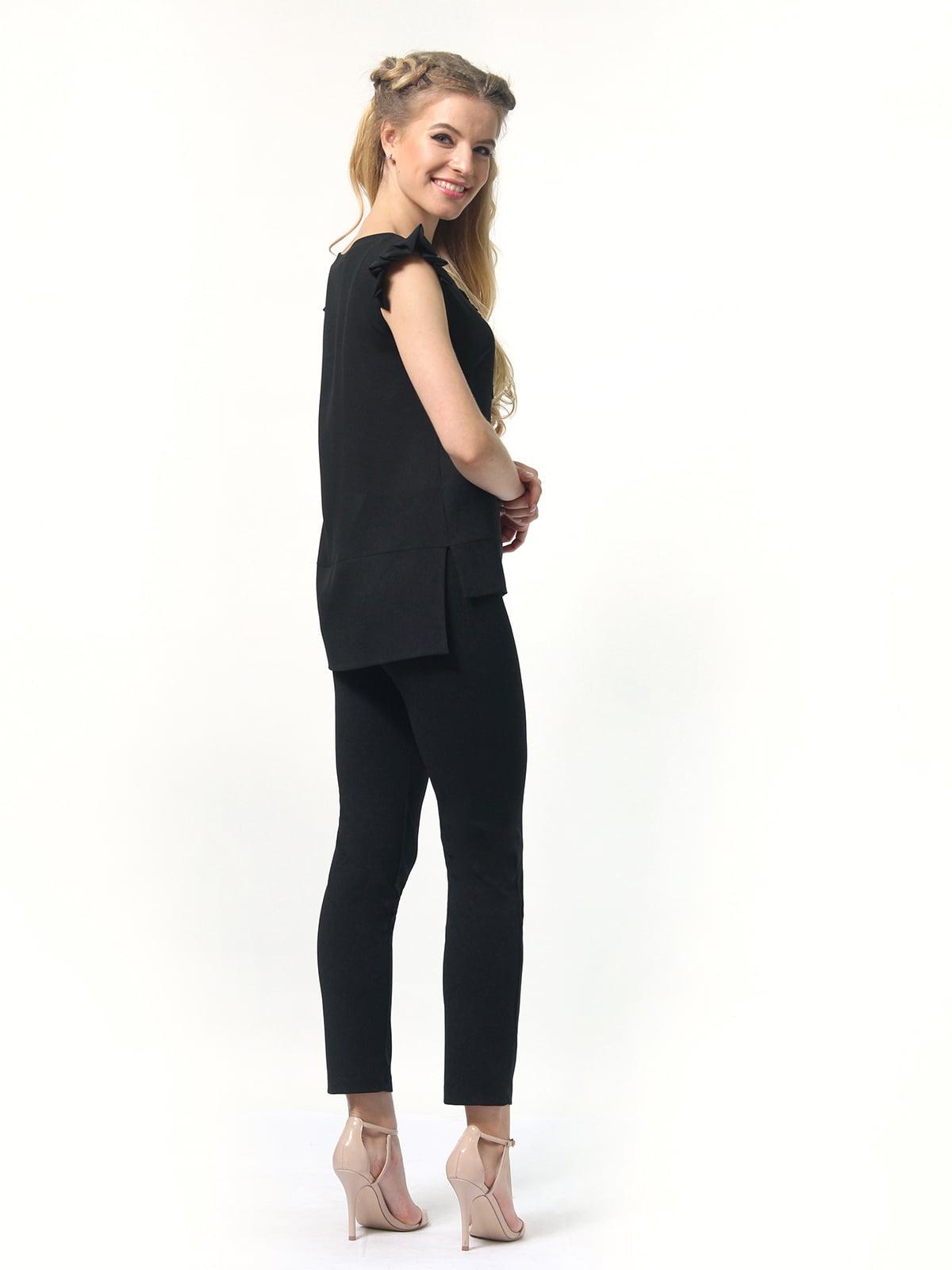 Блуза черная   4418810   фото 5