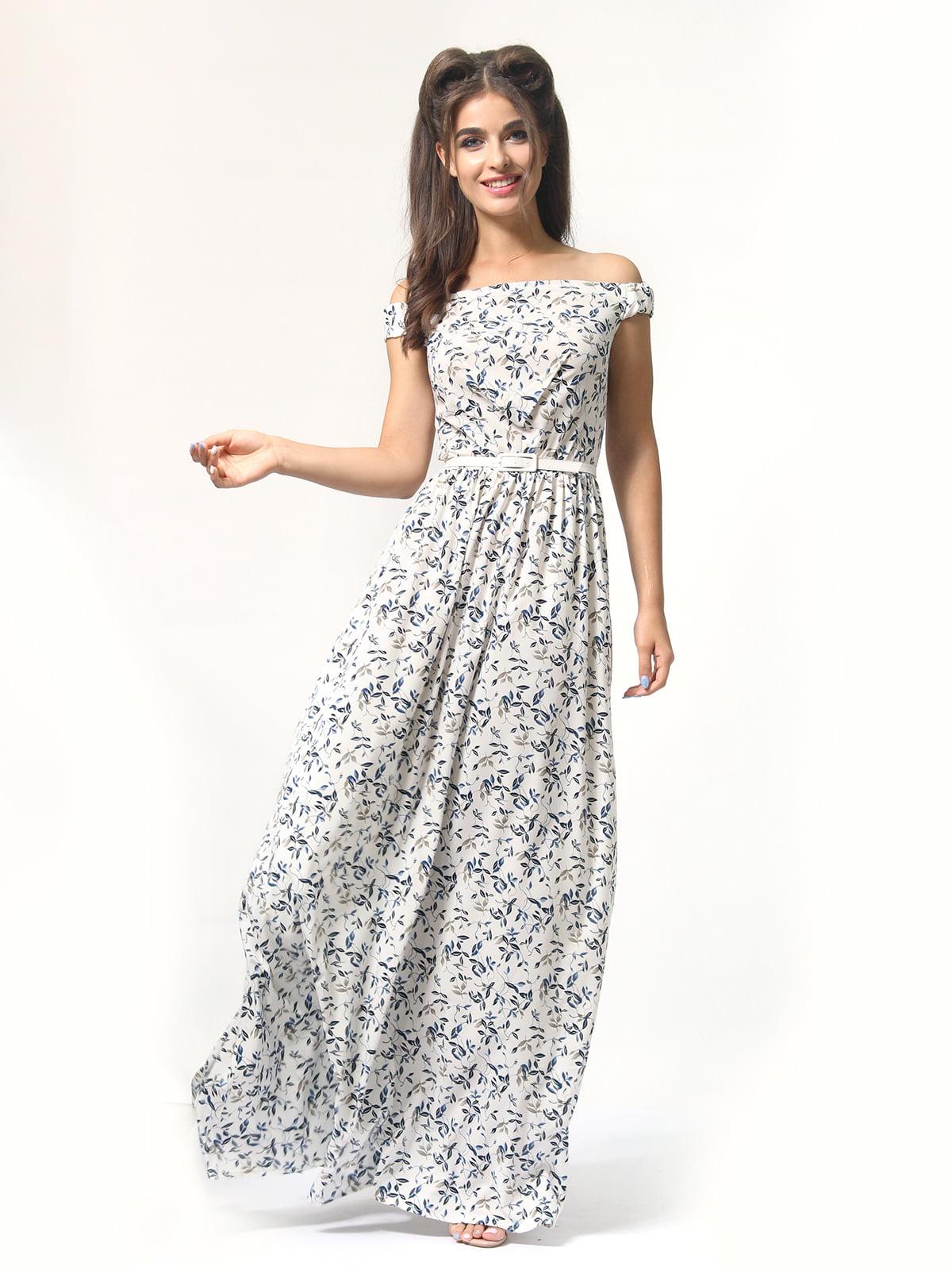 Платье в цветочный принт | 4418841