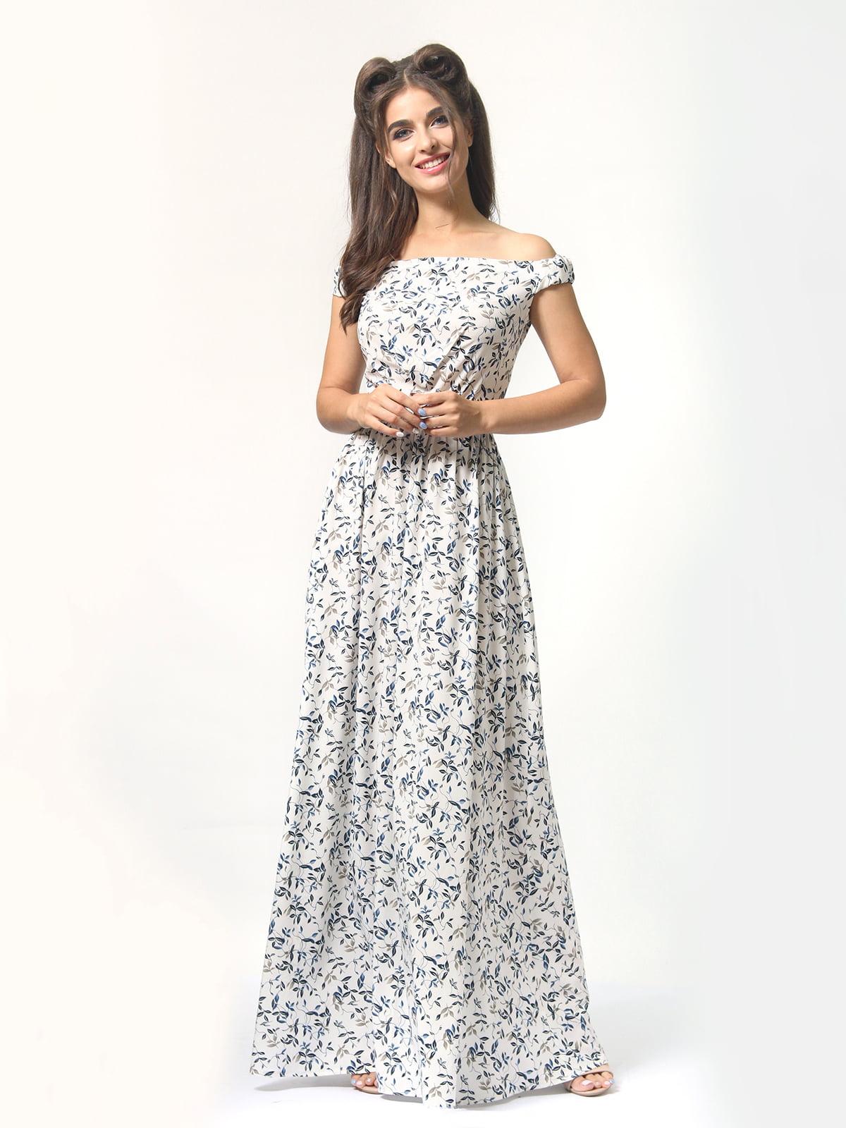 Платье в цветочный принт | 4418841 | фото 3