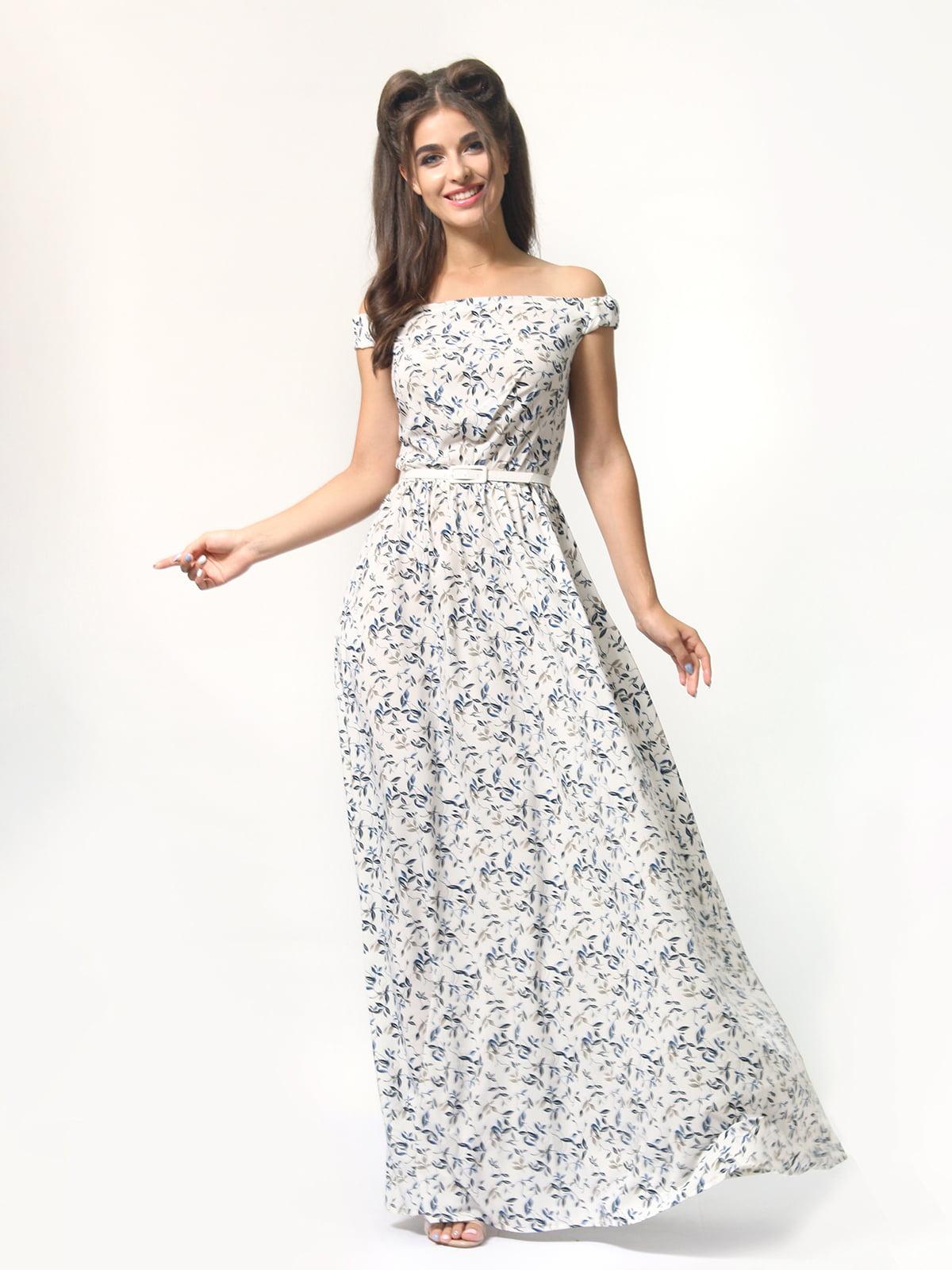 Платье в цветочный принт | 4418841 | фото 4