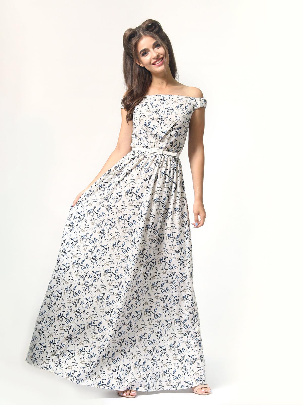 Платье в цветочный принт | 4418841 | фото 5