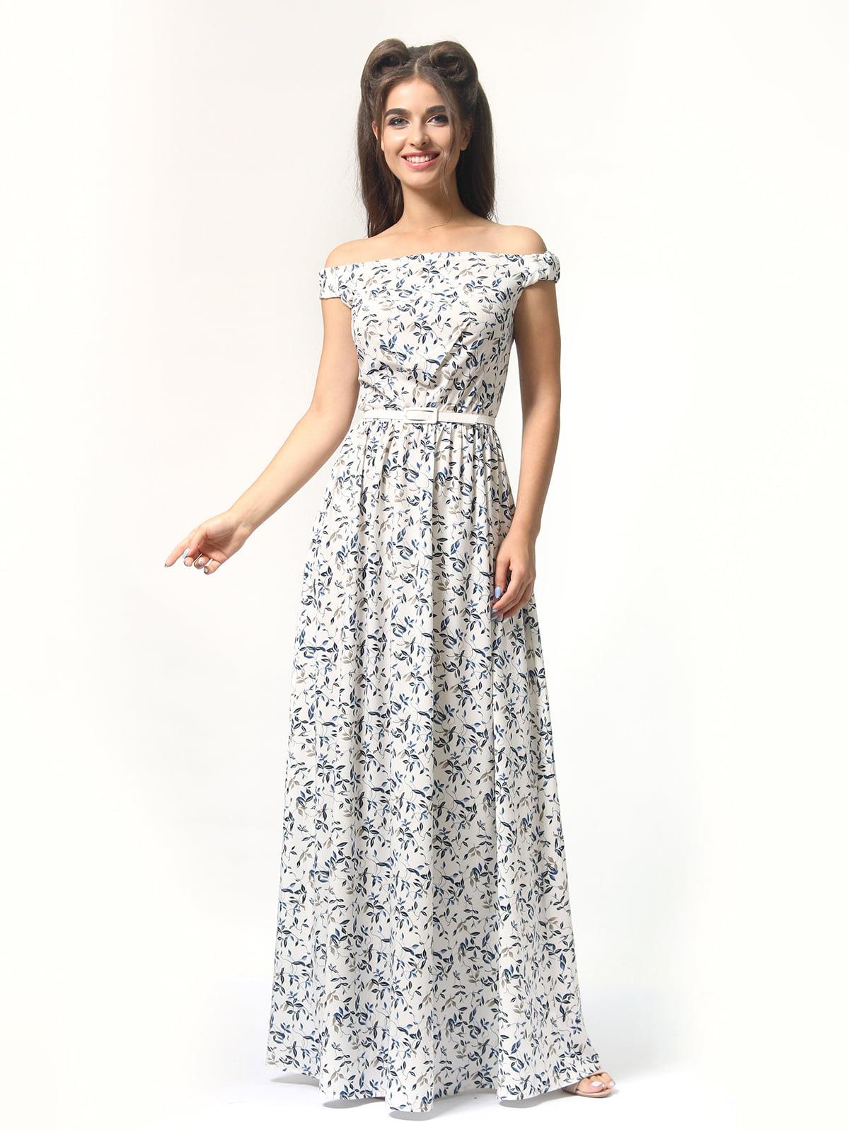 Платье в цветочный принт | 4418841 | фото 6