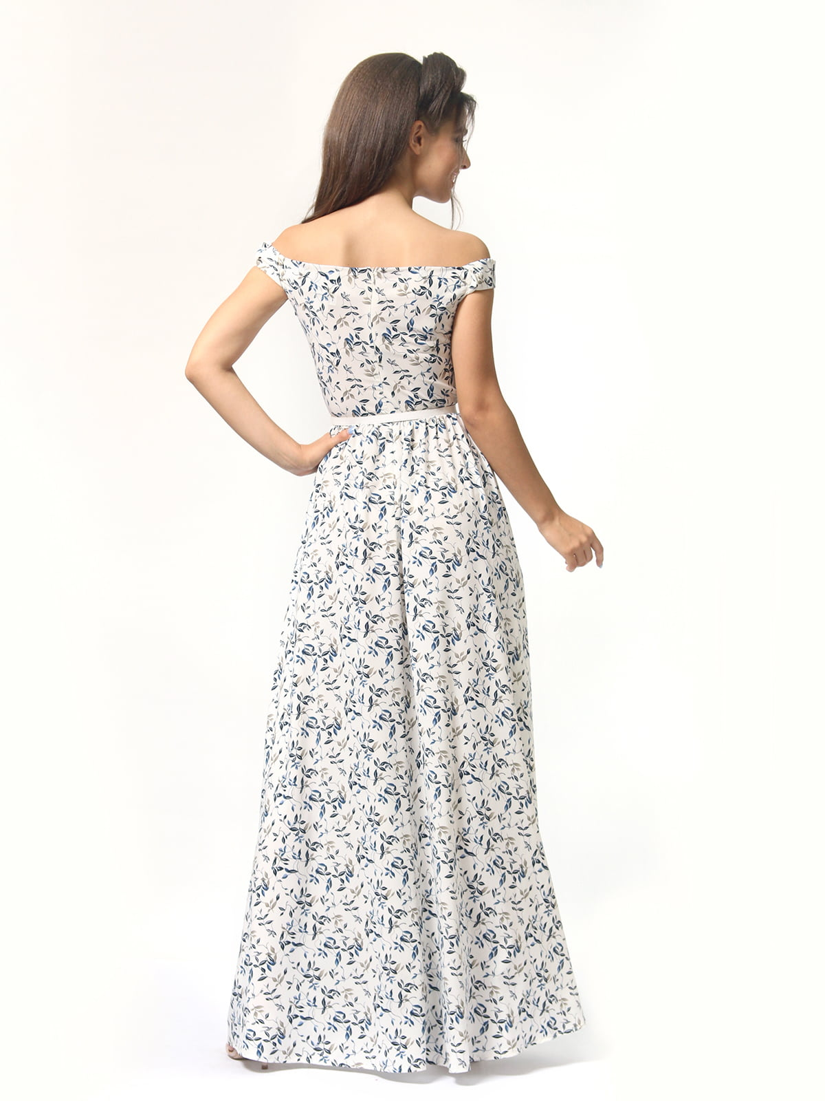 Платье в цветочный принт | 4418841 | фото 7
