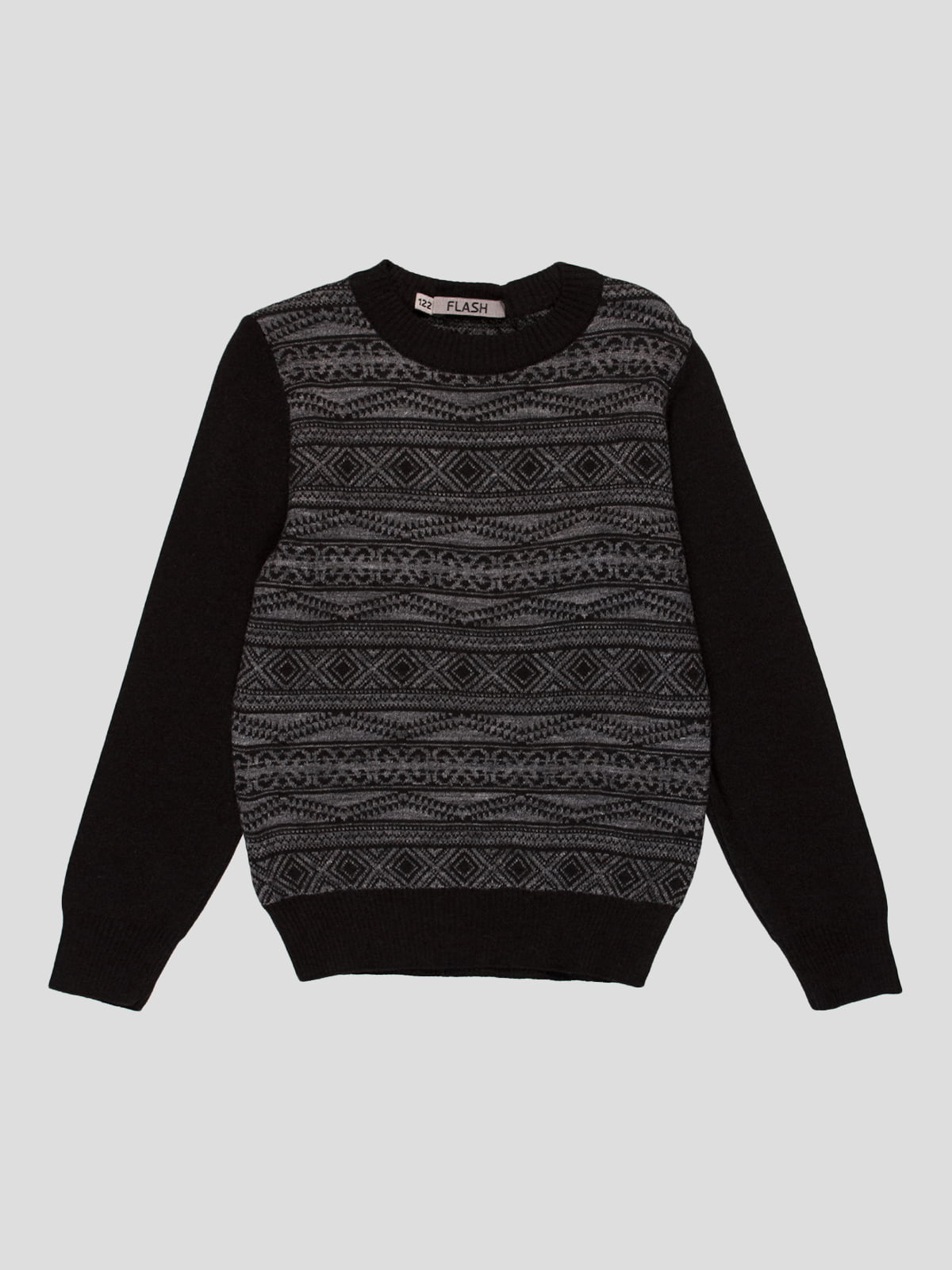 Джемпер черно-серый   4397333