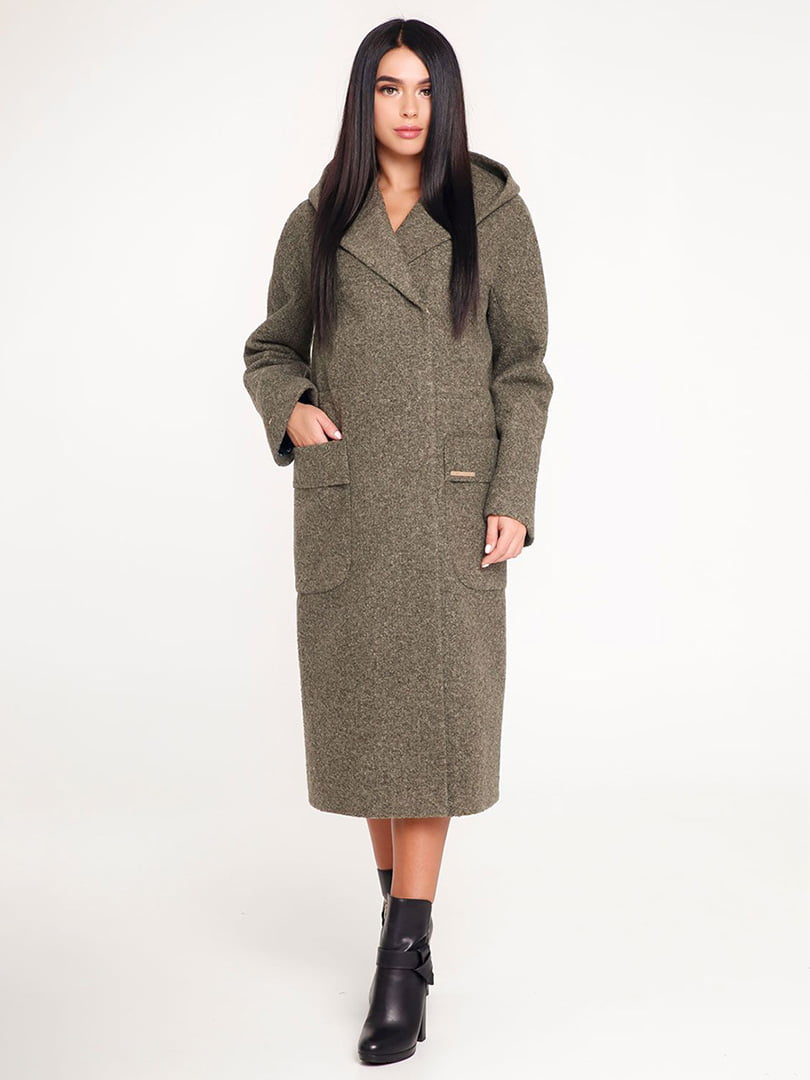 Пальто темно-зеленое | 4421235