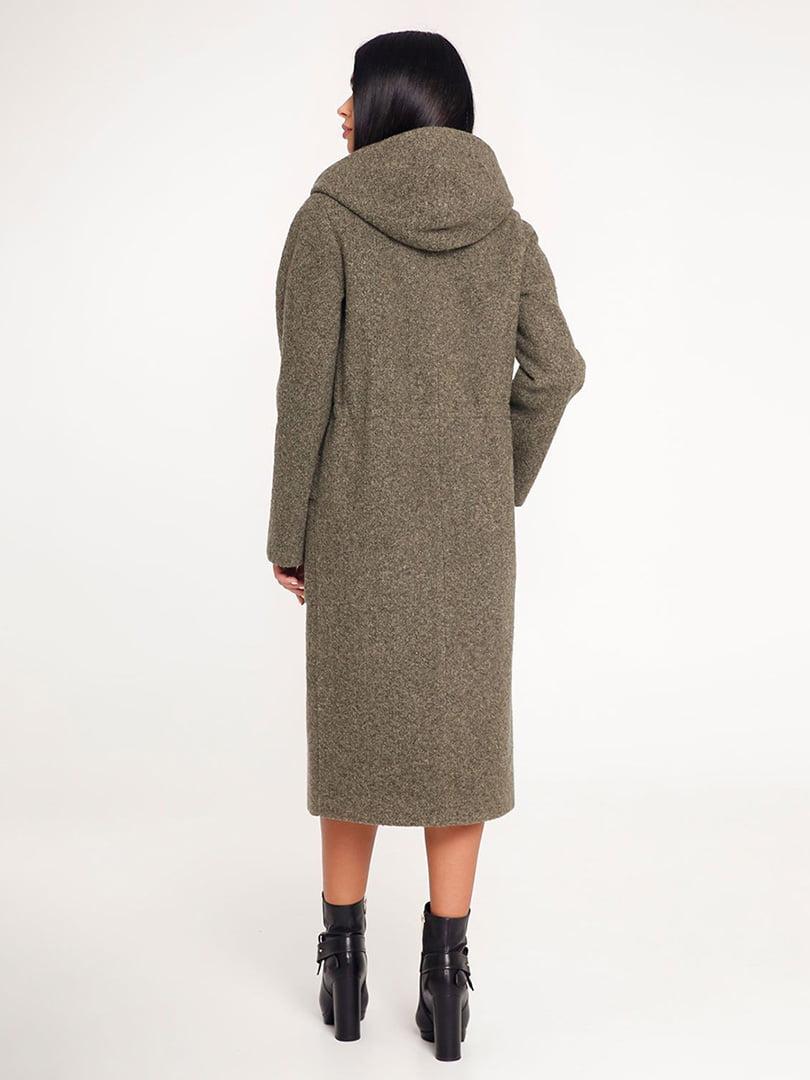 Пальто темно-зеленое | 4421235 | фото 3