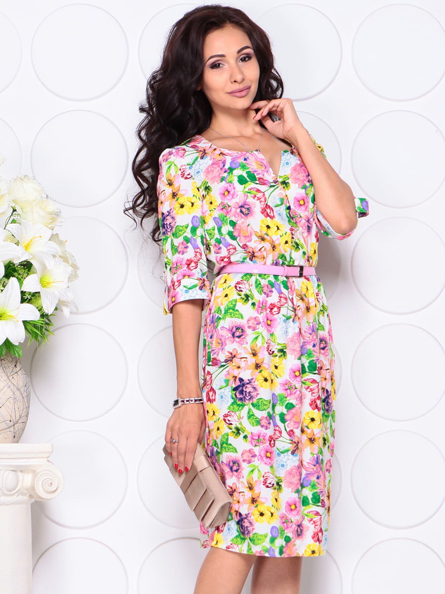 Платье в цветочный принт | 4414380