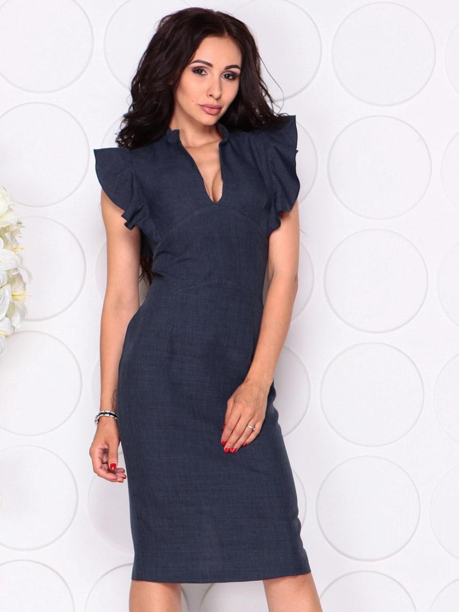Платье темно-синее | 4414390 | фото 3