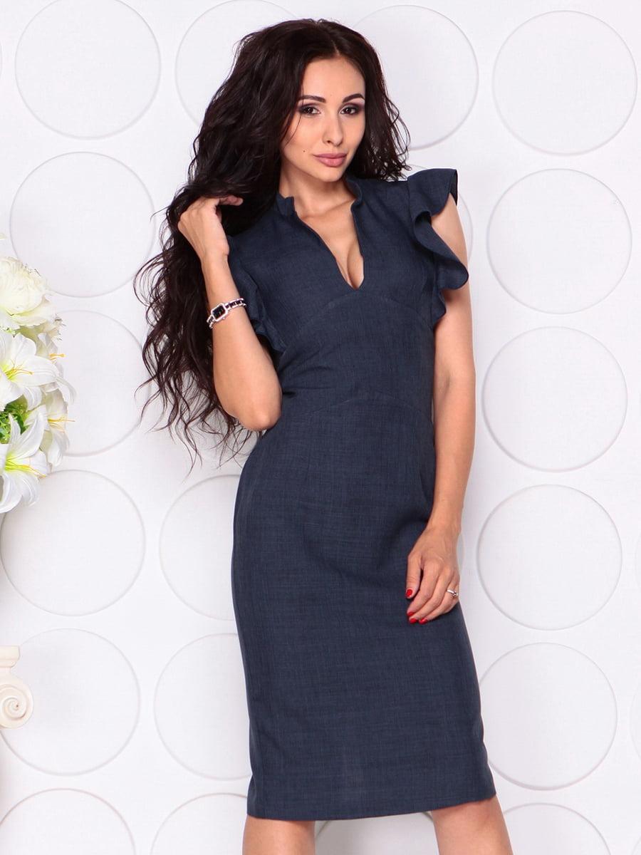 Платье темно-синее | 4414390 | фото 4