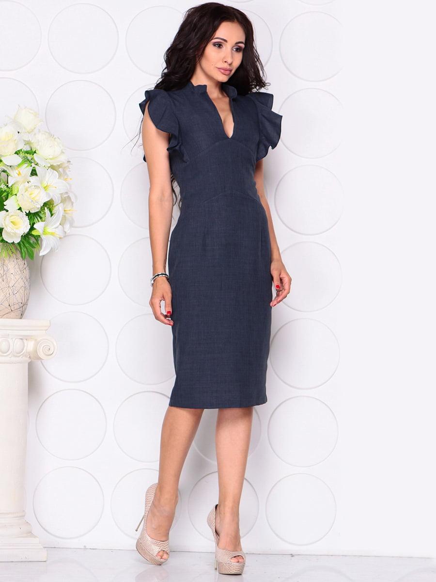 Платье темно-синее | 4414390 | фото 5