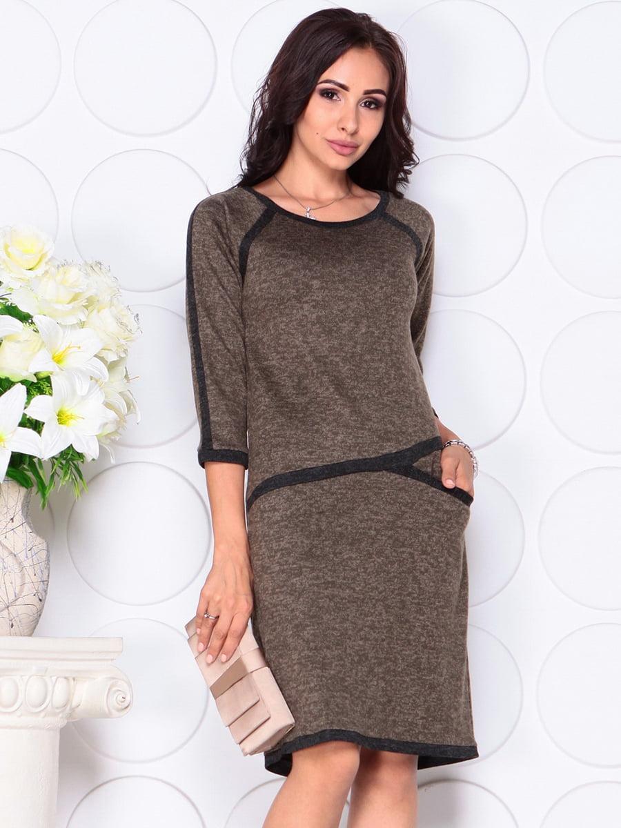Сукня кольору хакі | 4419752