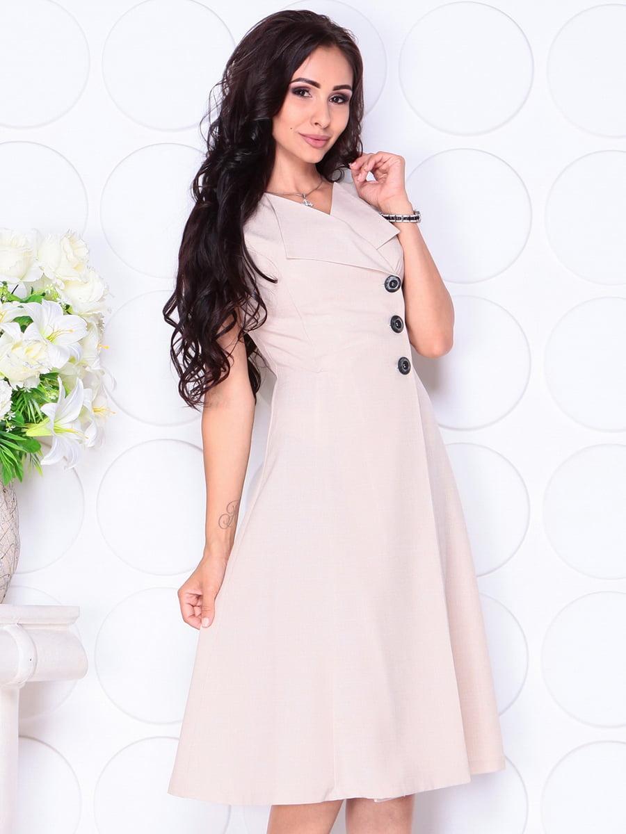 Платье бежевое | 4419770