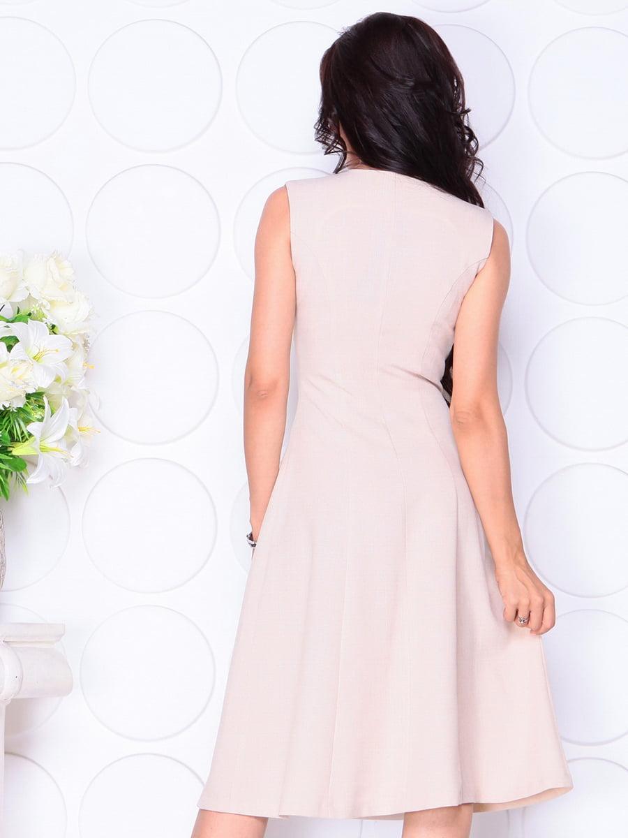 Платье бежевое | 4419770 | фото 2
