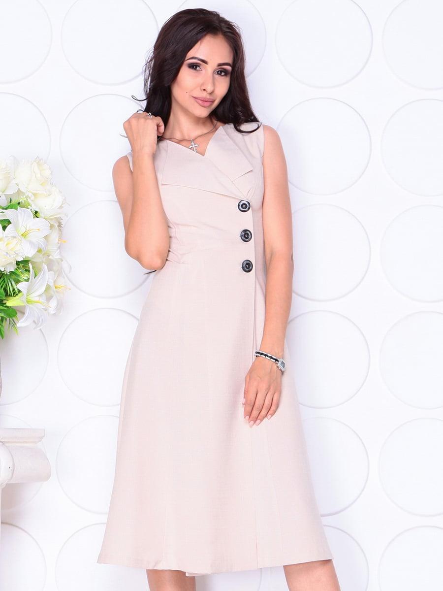 Платье бежевое | 4419770 | фото 3