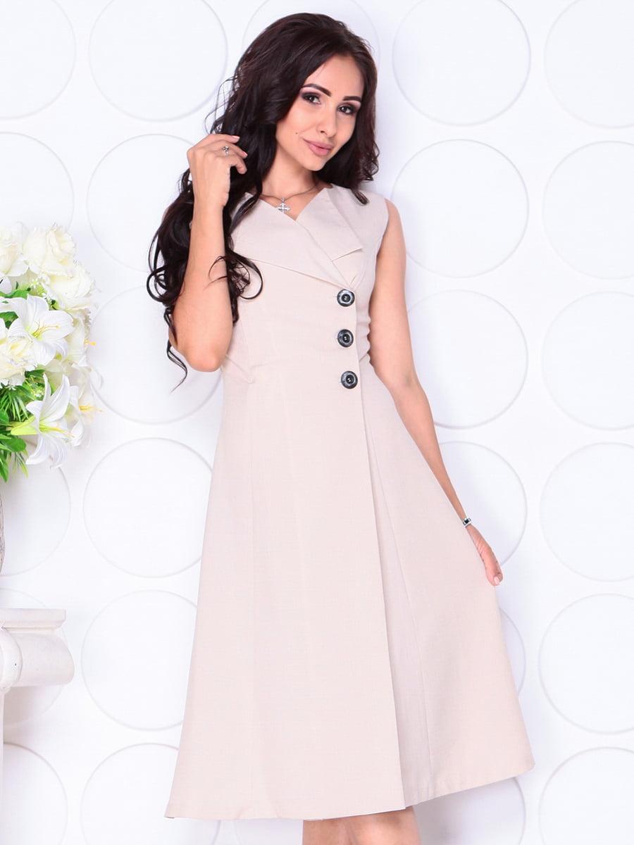 Платье бежевое | 4419770 | фото 4
